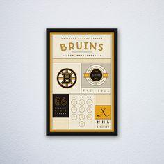 Boston Bruins Stats Print par DesignsByEJB sur Etsy