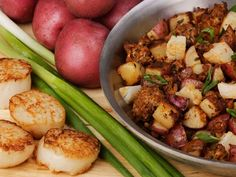Seared Scallops with Chorizo and Potatoes by Chef Rick Bayless