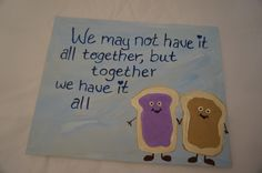 Hand Painted 8 x 10 acrylic canvas sorority together we have it all Big Little reveal week by MoonbeamsBearDreams on Etsy