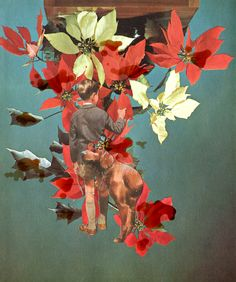Catalina Schliebener, Flowers 2, 19 x 25 cm, collage de libros, 2011     Bisagra arte contemporaneo