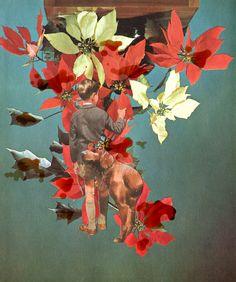 Catalina Schliebener, Flowers 2, 19 x 25 cm, collage de libros, 2011     Bisagra arte contemporaneo