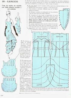 "Моделирование из ""Metodo Practico de Сorte y confeccion"" Barbie Patterns, Dress Sewing Patterns, Doll Clothes Patterns, Vintage Sewing Patterns, Sewing Clothes, Clothing Patterns, Sewing Hacks, Sewing Tutorials, Sewing Projects"
