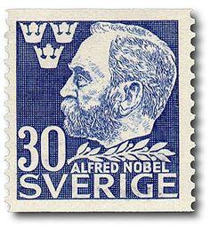 "Sweden ""Alfred Nobel"" Stamp from coil. Alfred Nobel, Nobel Prize, Vintage Stamps, Stamp Collecting, History, Gifts, Collection, World, Sweden"
