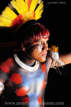 Xingu man from Amazon Brazil