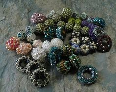 Beaded beads...to be made into a variety of projects.  http://lori-finney.blogspot.com/