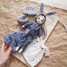 #lerusha #handmade #doll #bunny #dollmaker #весна Набор(4000р) или куклу отдельно(2800р) можно купить на сайте www.lerusha.com (ссылка в профиле)