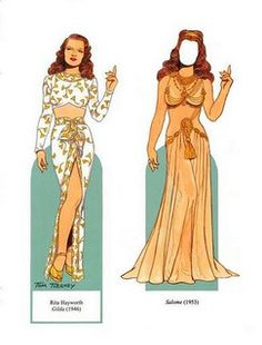 Rita Hayworth paper doll
