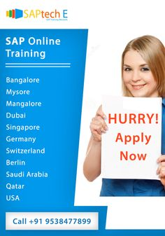 In order to make your future more successful and more bright you can take the SAP online training through our institute.