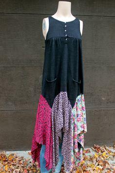 Fall Jumper Dress, Shabby Chic, Romantic, Junk Gypsy Style