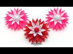 Резинки канзаши по Шаблону МК Kanzashi Tutorial DIY PAP МойМК - YouTube