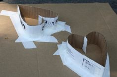 Cardboard forms for hypertufa or concrete.