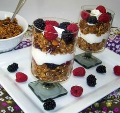 Granola Trifle With Greek Yogurt and Berries. Photo by Cooking Creation