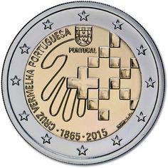 moneda conmemorativa 2 euros Portugal 2015 Cruz Roja., Tienda Numismatica y Filatelia Lopez, compra venta de monedas oro y plata, sellos españa, accesorios Leuchtturm