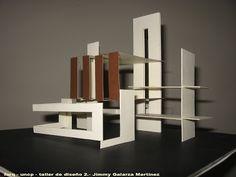 TALLER DE DISEÑO 2 FARQ-UNCP: octubre 2008 Concept Models Architecture, Architecture Drawing Art, Canopy Architecture, Architecture Sketchbook, Architecture Design, Schroder House, Architectural House Plans, Quilled Paper Art, Geometric Art