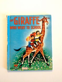 Vintage Book The Giraffe Who Went to School by PigandPepperBooks, $7.00