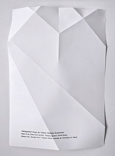 Graphics we like / paper / Mask / Type / Minimal / Shadow / How white is white / at leManoosh : Photo Paper Design, Design Art, Print Design, Book Design, Paper Folding, Grafik Design, Looks Cool, Graphic Design Illustration, Graphic Prints