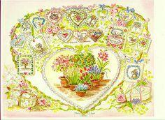 JWP PO 13S VALENTINE HEART PRINT. Tudor, Tasha : Cellar Door Books - The World of Tasha Tudor