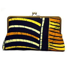 Orange and Yellow Ankara Super Snap Clutch African by Urbanknit, £65.00