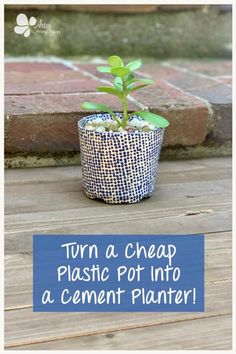 Take a disposable cheap pot and make it a durable, outdoor, designer planter. Check out the trick to making it durable in this step by step detailed tutorial for this inexpensive, easy planter! #artsyprettyplants #modpodge #diycrafts #planterideas #cementcrafts #dollartreecrafts #cheapplanter #diyplanter #easycrafts Cheap Planters, Cement Planters, Plastic Plant Pots, Plastic Planter, Concrete Crafts, Concrete Projects, Diy Projects, Decorative Paper Napkins, Flower Pot Crafts