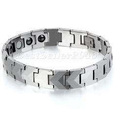 12MM Heavy Biker Tungsten Carbide Men's Link Magnetic Bracelet FREE SHIPPING #Unbranded #Bangle
