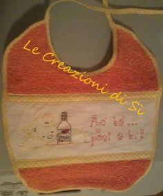 Bavaglini realizzati per Valentina -Sassari (SS) -   Visita la mia pagina facebook Le Creazioni di Sì.