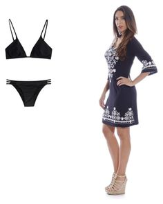 """""""Swimwear and swim suit cover up"""" by elmerbuckley ❤ liked on Polyvore featuring Melissa Odabash, women's clothing, women's fashion, women, female, woman, misses and juniors"""