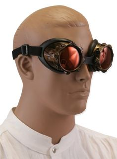 Trevor wants Steampunk goggles to wear with his raver pants. omg.