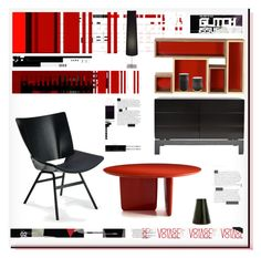"""Red Glitch"" by snowbell ❤ liked on Polyvore featuring interior, interiors, interior design, home, home decor, interior decorating, Akira, OTTO and Gallotti"