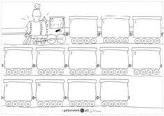 Lokomotywa. Co jest w wagonach? - Printoteka.pl Schools, Diy And Crafts, Education, Math, Double Deck Bed, Speech Language Therapy, Math Resources, Teaching, Onderwijs