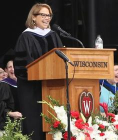 """Engage in some real soul searching. Take a good, hard look at your strengths and weaknesses. A fulfilling professional life can be found at the intersection of what you love and what you're good at. And when you think you've discovered it, go at it full throttle."" – Journalist Katie Couric at University of Wisconsin-Madison"