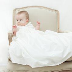 Unisex Christening Gown 'Luke' • Baptism Gown • Boys Christening gown • Baptism outfit for boys • Blessing gown • Christening gown •