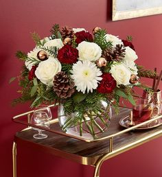 Shop Christmas flowers & gifts for delivery to celebrate the season! Find beautiful Christmas floral arrangements and holiday flowers. Christmas Flower Arrangements, Christmas Flowers, Elegant Christmas, Flower Centerpieces, White Christmas, Floral Arrangements, Holiday Tables, Southern Living, Lush