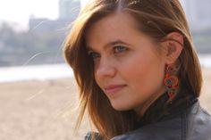 Kavrila - biżuteria autorska . sutasz . soutache: Sesja wiosenna w Warszawie #sutasz #soutache #handmade #kavrila #earrings
