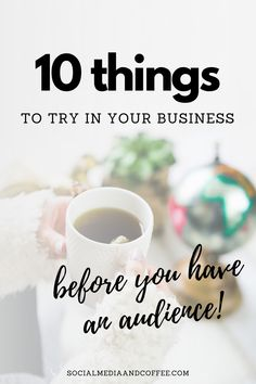 When you don't have an audience for your business yet, you can try out all sorts of things, and practice! Here are 10 things you should try ASAP. Social media marketing | online business | Facebook marketing | Instagram marketing | blog | blogging | entrepreneur | small business marketing | marketing ideas | social media tips | #onlinebusiness #blog #Blogging #socialmedia #marketing #Facebook #Instagram #entrepreneur #smallbusiness #smm #productivity Business Help, Business Ideas, Online Business, Facebook Marketing, Online Marketing, Social Media Marketing, Social Media Quotes, Social Media Tips, Instagram Tips