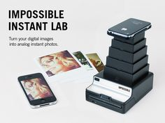 Impossible Instant Lab: Turn iPhone Iimages into analog instant prints by The Impossible Project, via Kickstarter. #iPhone #Photographs #Impossible_Instant_Lab