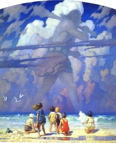 ART~ Newell Convers Wyeth (October 1882 – October known as N. Wyeth, The Giant~ was an American artist and illustrator. He was the pupil of artist Howard Pyle and became one of America's greatest illustrators Andrew Wyeth, Jamie Wyeth, Art And Illustration, American Illustration, Nc Wyeth, Howard Pyle, Kunst Online, Edmund Dulac, Caricatures