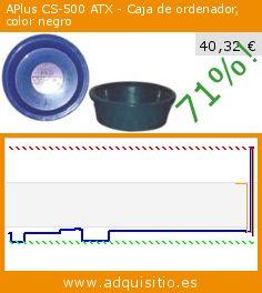 APlus CS-500 ATX - Caja de ordenador, color negro (Varios). Baja 71%! Precio actual 40,32 €, el precio anterior fue de 138,21 €. http://www.adquisitio.es/fabricado-marca/aplus-cs-500-atx-caja