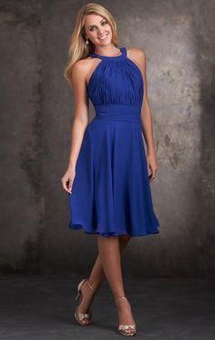 Stylish Chiffon Royal Blue Bridesmaid Dress BNNCC0021-Bridesmaid UK