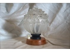 Vintage glass lamp www.hellans.no
