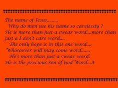 The name of Jesus..