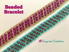 Beaded Netted Bracelet - YouTube