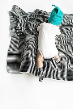 The Everything Blanket // Onyx Stripe -- perfect for a neutral baby gift!