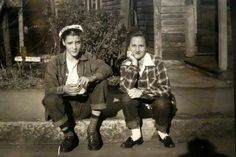 When Elvis was 15, he and Betty McMahan, posed across the street from Lauderdale Courts housing development, where the Presley family lived from September 20,1949 to 1953.