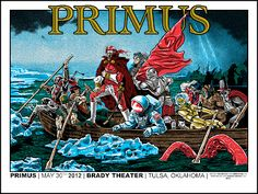 INSIDE THE ROCK POSTER FRAME BLOG: Tonight's Primus Poster from Tulsa Oklahoma by Tim Doyle