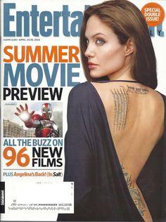 Angelina Jolie Entertainment Weekly Apr 2010 Salt Sean Hayes Dixie Carter