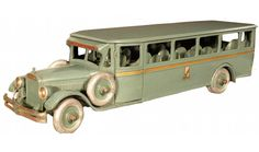 Buddy L Transportation Co. Toy Bus. Excellent, all original condition. 29 inches long.