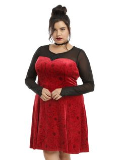 Storybrooke Style Comes to Life with Once Upon a Time Hot Topic Collection | Regina red dress | [ http://di.sn/600788ocW ]