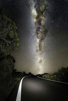 Milky Way in night sky ~ photo by Bülent Sirel
