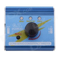 G.T.POWER 3 MODES G.T CCPM Futaba 1~3 Servos / ESC Consistency Master - Blue. 1. It can connect 1-3 servos simultaneously and test such as 1-3 servos consistency and so on. 2. You can also connect 1-3 ESC to test and compare their reaction time respectively. 3. It can connect 3 servos of the CCPM helicopters and select servos. 4. It can also connect the servo of airplanes. Install the steering-box and adjust planes by using such as the neutral mode and so on.. Tags: #Hobbies #Toys #R/C #Toys…