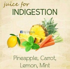 Juice for indigestion Healthy Juice Recipes, Juicer Recipes, Healthy Juices, Healthy Smoothies, Raw Food Recipes, Healthy Drinks, Smoothie Recipes, Detox Smoothies, Healthy Eats